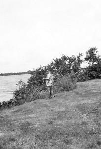 Me Fishing from the shore of Lake Okeechobee circa 1951