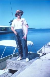 Mom at Sugarloaf Key, December 1972