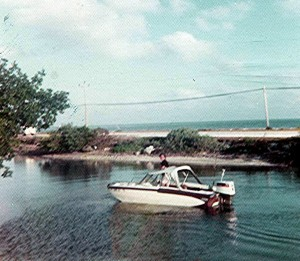 """My first very own boat; a 15'2"""" Glastron Tri Hull with a 75hp Johnson outboard"""