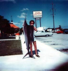 "6'6"" Sailfish I caught off Marathon in my 15'2"" boat, circa 1979"