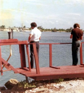 Fishing Dock behind original Marathon Howard Johnson's Motor Lodge, circa 1979