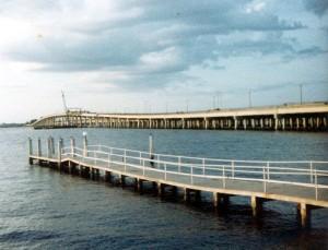 Fishing Pier at the Howard Johnson's Motor Lodge, Punta Gorda, FL, Oct 1982