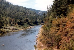 A view of the Rogue River, Oregon, as it looked in 1985