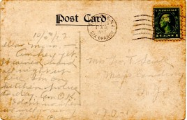 A2 WW1 CARD 3B MAILED FROM FT DIX NJ 10-23-1917 BY GREAT UNCLE OSCAR