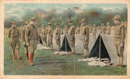 B1 WW1 CARD 1A TENT INSPECTION ANNISTON AL 12-10-1917